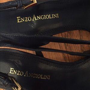 NWOT Enzo Angiolini Blue Strap Heels